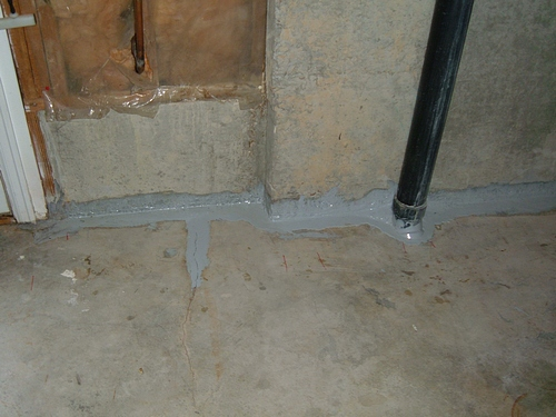 basement leak reapair with epoxy